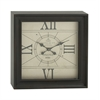 Benzara Splendid Metal Square Wall Clock
