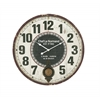 "Stunning Wood Metal Round Wall Clock 23""D"