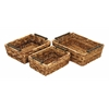 "Rattan Basket Set/3 18"", 16"", 14""W Unique Home Accents"
