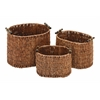 "Benzara Rattan Basket Set/3 15"", 13"", 11""W Unique Home Accents"