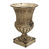 "Benzara Metal Planter Vase 26""H, 18""W Patio Accents"