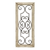 "Benzara Wood Metal Wall Panel 25""H, 10""W Wall Decor"