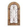 Benzara Wooden And Metal Wall Panel With Stately Design & Antiqued Look