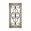 Benzara Antiqued Wooden And Metal Wall Panel With Vintage Ruggedness