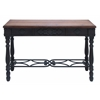Wood And Metal Desk Durability With Rich Mahogany Color