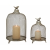 Benzara Set Of 2 Grandeur & Unique Styled Metal Candle Lantern