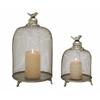 Benzara Set Of 2 Grandeur & Unique Styled Metal Candle Lantern