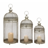 Benzara Set Of 3 Amazing Metal Lantern