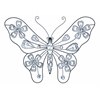 "Benzara Creative Metal Acrylic Butterfly 22""W, 18""H"