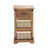 Benzara The Rural Wood Metal Basket Chest