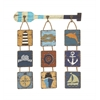 Benzara Classy Marine Themed Wood Rope Wall Decorative