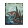 Marine Themed Wood Metal Wall Decor, Multicolor