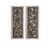Marvelous Wall Decor 2 Assorted, Chocolate brown