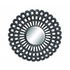 "Benzara Dark Black Finished Classy 35"" D Metal Wall Round Mirror"