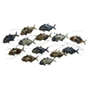 Amazing Metal Fish Wall Decor, Silver