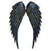 Artistic Metal Wing Wall Decor, Black