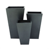 Simple Metal Planter, Dark grey, Set Of 3