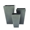Classy Metal Planter, Light grey, Set Of 3