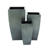 Plain yet attractive Metal Planter, Dark Grey, Set Of 3