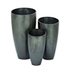 Exclusive Metal Planter, Grey, Set Of 3