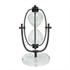 Sophisticated Metal Glass Acrylic Sand timer, Black