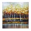 Nature Painting With Bright Gold Trees