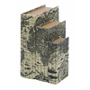 Benzara Faux Book Boxes With Ancient World Map