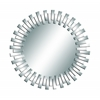 Benzara Mirror With Solid Wood Frame In Silver Color