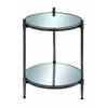 Benzara Mirror Accent Table With Metal Framework