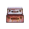 Enthralling Wood Trunk, Multicolor, Set Of 2