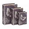 Benzara Book Box Set With Paris Butterfly Theme