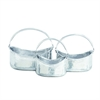 Astounding Aluminum Planters, Chrome Silver, Set Of 3