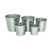 Useful Aluminium Planter, Chrome Silver, Set Of Five