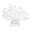 Striking Aluminum Coral Marble Base, Silver