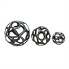 Innovative Aluminum Decor ball, Gray, Set Of 3