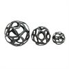 Innovative Aluminum Decor ball, Gray, Set Of 3