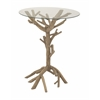 Benzara Attractive And Unique Wood Glass Accent Table