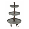 Benzara Classic Metal 3 Tier Tray Stand