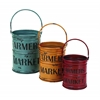 Benzara Basket With A Rich Bold Finish Of Colors - Set Of 3