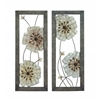 Benzara Victorian-Themed Sparkling Assorted Floral Wall Art