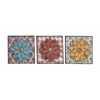 Benzara The Unbeatable Metal Wall Flower 3 Assorted