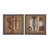 Benzara Classy Styled Metal Wall Décor 2 Assorted