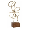Stylish And Antique Themed Metal Gold Abstract Sculpture
