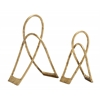 Benzara Set Of 2 Exquisite And Classy Metal Gold Sculpture