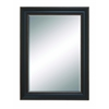 Benzara Beveled Mirror Framed With Super Solid Resin Wood