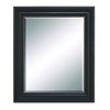 Benzara Beveled Mirror With Saddle Brown Finish & Brown Accent