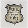 Stylishled Route 66 Sign, Off-White and Gray