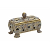 Decorative Box In Stunning Gold Finish & Dull Grey Wash