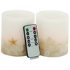 Benzara Attractive Styled Led Flameless Candle Remote Set