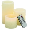 Benzara Beautiful Led Flameless Candle Remote Set